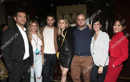 Antony Starr, Chace Crawford, Erin Moriarty, Eric Kripke, Sharon Tal Yguado and Karen Fukuhara attend the Amazon Studios Winter 2019 TCA