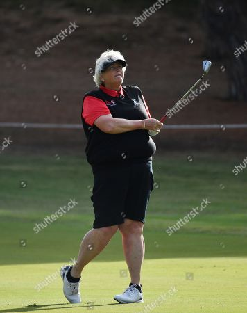 Laura Davies of Britain during the Women's Australian Open golf tournament at The Grange Golf Club in Adelaide, Thursday, February 14, 2019. The Women's Australian Open golf tournament runs from 14 February to 17 February.