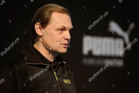 Bjorn Gulden, CEO of Puma, speaks during the annual earnings press conference in Herzogenaurach, Germany, 14 February 2018. The sporting goods manufacturer said they increased their sales in 2018 by 20.1 per cent to 1.226 million euros. The operating result (EBIT) is up to 38 million euros according to the management.