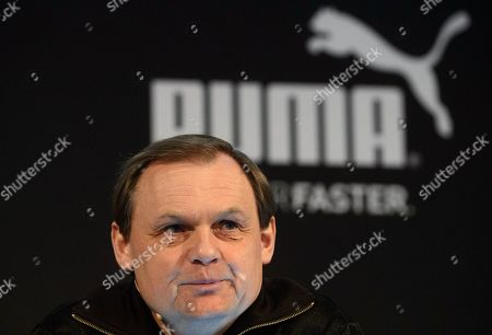 Bjorn Gulden, CEO of Puma, pictured during the annual earnings press conference in Herzogenaurach, Germany, 14 February 2018. The sporting goods manufacturer said they increased their sales in 2018 by 20.1 per cent to 1.226 million euros. The operating result (EBIT) is up to 38 million euros according to the management.