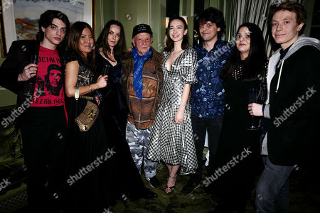 Sascha Bailey, Mimi Nishikawa, Catherine Bailey, David Bailey, Sarah Stanbury, Paloma Bailey and Charles Stanbury.
