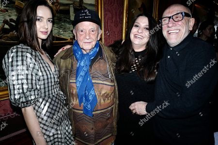 Sarah Stanbury, David Bailey, Paloma Bailey and Brian Clarke