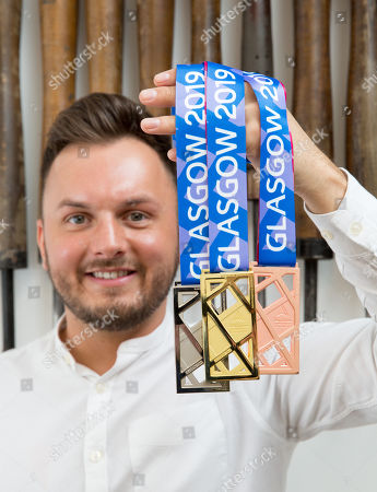 A general view of the medal design for the 2019 European Athletics Indoor Championships in Glasgow, Britain, 14 February 2019. The medal design for the major European athletics competition has been unveiled after being designed by an artist in residence at the Glasgow School of Art. The work by Glasgow based silversmith Andrew Fleming will be presented to winners at the 2019 European Athletics Indoor Championships, which will be held from 01 to 03 March 2019 at the Emirates Arena in Glasgow.