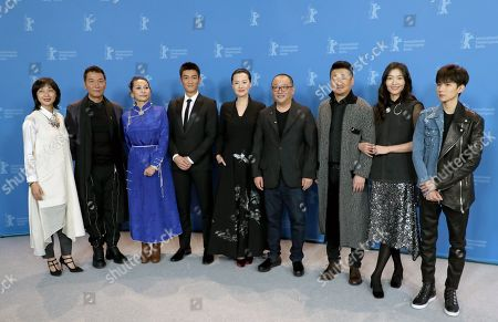 Liu Xuan, Zhao Yanguozhang, Ai Liya, Du Jiang, Yong Mei, director Wang Xiaoshuai, Wang Jingchun, Qi Xi and Wang Yuan pose during the photocall of 'So Long, My Son' (Di jiu tian chang) during the 69th annual Berlin Film Festival, in Berlin, Germany, 14 February 2019. The movie is presented in the Official Competition at the Berlinale that runs from 07 to 17 February.