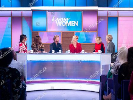 Christine Lampard, Chizzy Akudolu, Noel Edmonds, Liz Edmonds, Carol McGiffin and Jane Moore