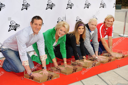 Will Greenwood, Diana Moran, Carly Zucker, Iwan Thomas and Tim Foster