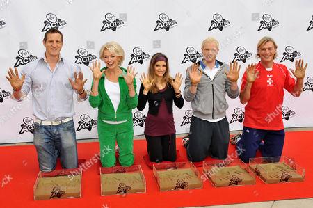 Editorial image of Sporting stars at Fitness Walk Of Fame, Twickenham Health Club, London, Britain - 30 Sep 2009