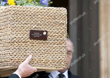 Keith Floyd's banana leaf coffin