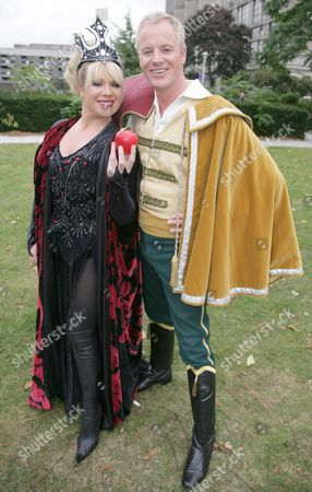 Letitia Dean as The Wicked Queen and her brother Stephen Dean as Prince Danilo