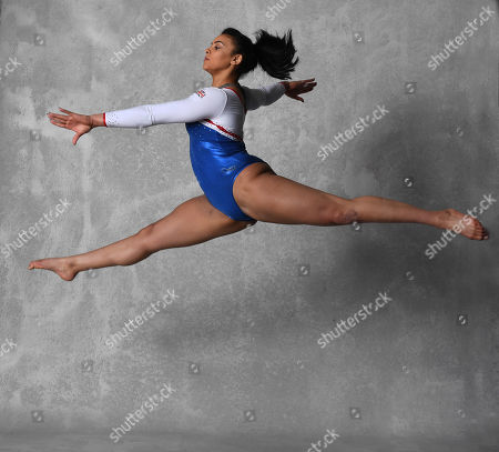 Gymnast Ellie Downie Feature Shows Off Her Moves Before The UK World Cup In Birmingham.