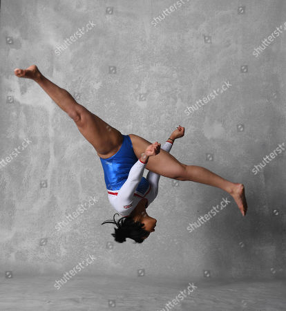 Editorial image of Gymnast Ellie Downie Feature Shows Off Her Moves Before The Uk World Cup In Birmingham. Pic Andy Hooper/daily Mail.