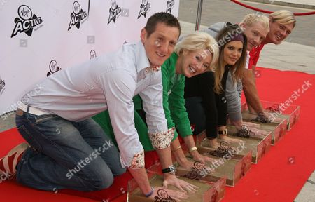 Stock Image of Will Greenwood, Diana Moran, Carly Zucker, Iwan Thomas and Tim Foster