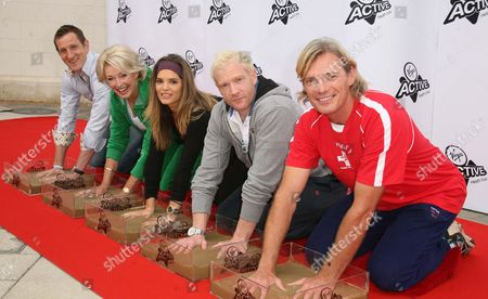 Editorial image of Sporting stars at Fitness Walk Of Fame, Twickenham Health Club, London, Britain - 30 Sep 2009