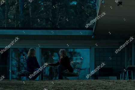 Lisa Emery as Darlene Snell and Laura Linney as Wendy Byrde