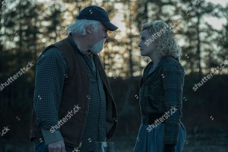 Stock Picture of David Dwyer as Taylor Hurn and Julia Garner as Ruth Langmore