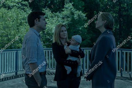 Jason Bateman as Martin 'Marty' Byrde, Laura Linney as Wendy Byrde and Janet McTeer as Helen Pierce