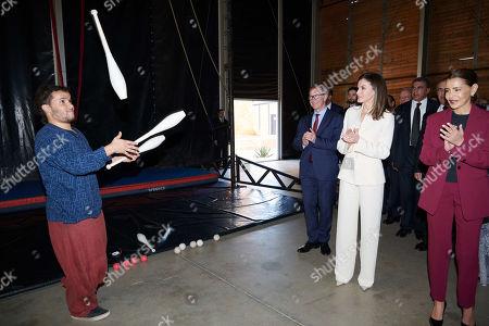Queen Letizia, Princess Lalla Meryem of Morocco visit the Second Chance School