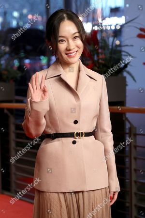 Stock Photo of Huo Siyan arrives for the premiere of 'So Long, My Son' (Di jiu tian chang) during the 69th annual Berlin Film Festival, in Berlin, Germany, 14 February 2019. The movie is presented in the Official Competition at the Berlinale that runs from 07 to 17 February.