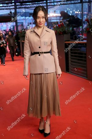 Huo Siyan arrives for the premiere of 'So Long, My Son' (Di jiu tian chang) during the 69th annual Berlin Film Festival, in Berlin, Germany, 14 February 2019. The movie is presented in the Official Competition at the Berlinale that runs from 07 to 17 February.