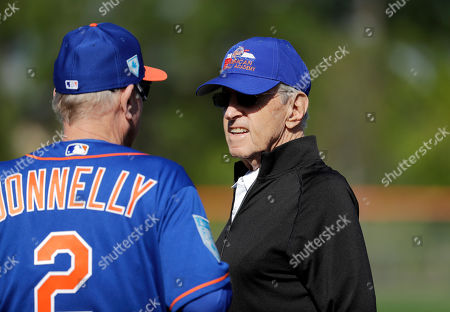 New York Mets owner Fred Wilpon is seen during spring training baseball practice, in Port St. Lucie, Fla