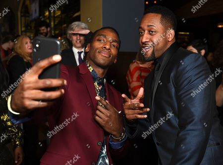 "Daniel J. Watts, left, and Jaleel White at the opening night party for the West Coast premiere of Lights Out: Nat ""King"" Cole at Geffen Playhouse, in Los Angeles. Daniel portrays Sammy Davis Jr. in the production"