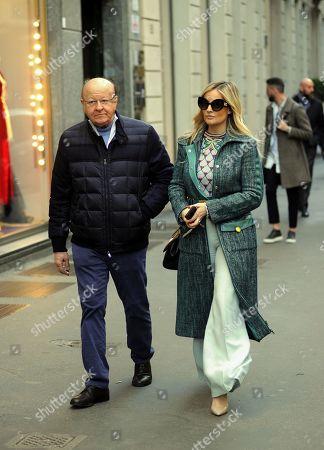 Arianna Rivoira and Massimo Boldi