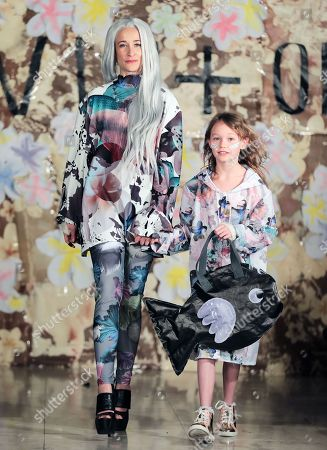 Leah Wood and Maggie Dylan on the catwalk