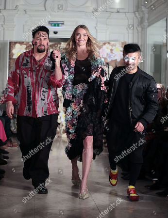 Editorial image of Vin and Omi show, Runway, Fall Winter 2019, London Fashion Week, UK - 14 Feb 2019