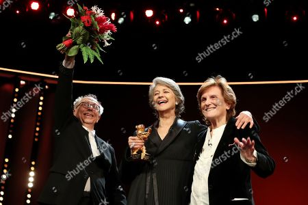Charlotte Rampling (C) with Festival Director Dieter Kosslick (L) and Italian director Liliana Cavani, receives the Honorary Golden Bear during the 69th annual Berlin International Film Festival in Berlin, Germany, 14 February 2019. The Berlinale runs from 07 to 17 February.