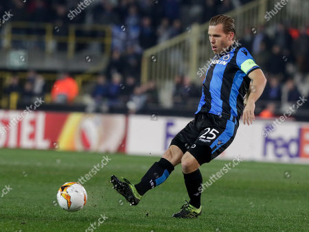 Ruud Vormer of Club Brugge KV  in action during an UEFA Europa League soccer match, round 32, between Club Brugge KV and FC Salzburg at the Jan Breydel Stadium in Bruges, Belgium, 14 February 2019.