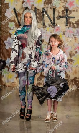 Leah Wood and Maggie Wood on the catwalk