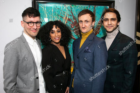 Tom Scutt (Director), Lara Rossi (Silvia), Tom Brooke (Gilderoy) and Luke Pasqualino (Santini)
