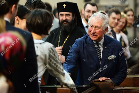 Prince Charles attends a Romanian Orthodox Church Service, London