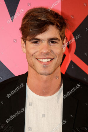 Model Giovanni Bonamy arrives at the 'Bal ParAmour' or Paramour ball, a charity event to celebrate love and support the fight against AIDS, at the City Hall of Paris, France, 14 February 2019, on Valentine?s Day. Organised by LINK endowment fund, this dance party is inspired by Vienna's Life Ball, one of the most important charity events in Europe.