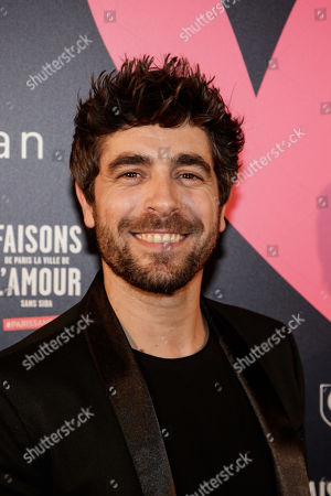 Stock Photo of Spanish singer and actor Agustin Galiana arrives at the 'Bal ParAmour' or Paramour ball, a charity event to celebrate love and support the fight against AIDS, at the City Hall of Paris, France, 14 February 2019, on Valentine?s Day. Organised by LINK endowment fund, this dance party is inspired by Vienna's Life Ball, one of the most important charity events in Europe.