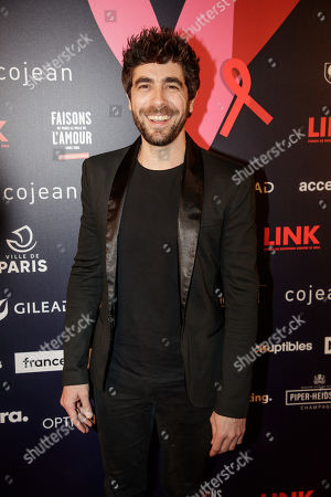 Stock Image of Spanish singer and actor Agustin Galiana arrives at the 'Bal ParAmour' or Paramour ball, a charity event to celebrate love and support the fight against AIDS, at the City Hall of Paris, France, 14 February 2019, on Valentine?s Day. Organised by LINK endowment fund, this dance party is inspired by Vienna's Life Ball, one of the most important charity events in Europe.