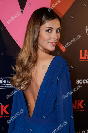 Miss France 2015 Camille Cerf arrives at the 'Bal ParAmour' or Paramour ball, a charity event to celebrate love and support the fight against AIDS, at the City Hall of Paris, France, 14 February 2019, on Valentine?s Day. Organised by LINK endowment fund, this dance party is inspired by Vienna's Life Ball, one of the most important charity events in Europe.