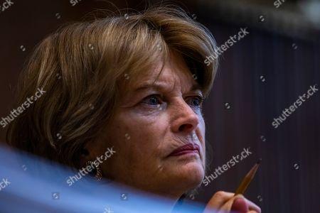 Senator Lisa Murkowski, Republican of Alaska, listens to witness testimony on Capitol Hill