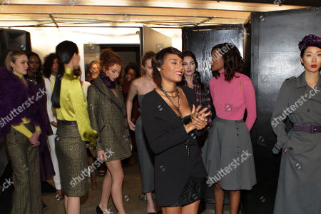 Designer Aisha Mcshaw backstage