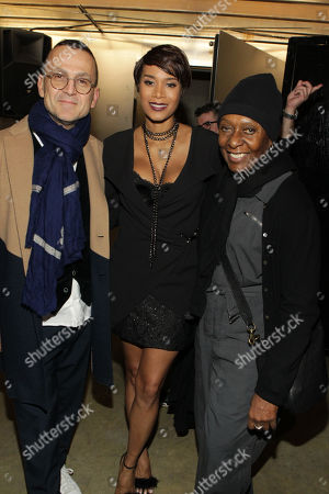 Steven Kolb President of CFDA Council for Fashion Design, Designer Aisha Mcshaw and Fashion Icon Bethan Hardison