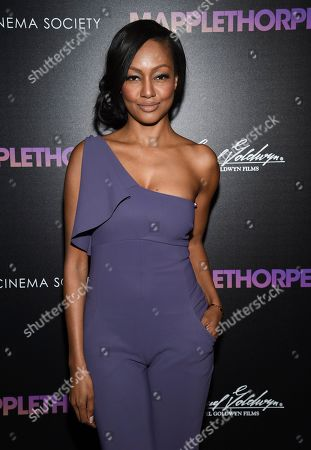 """Nichole Galicia attends a special screening of """"Mapplethorpe"""", hosted by The Cinema Society, at Cinepolis Chelsea, in New York"""
