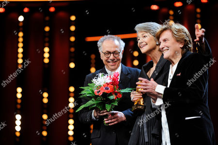Stock Photo of Dieter Kosslick, Liliana Cavani und Charlotte Rampling