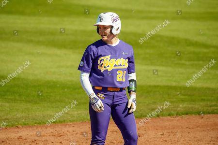 LSU first baseman Amanda Doyle #22 during an NCAA softball game on in Clearwater, Fla