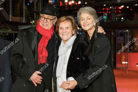 Stock Picture of L-R: Festival Director Dieter Kosslick, Liliana Cavani und Charlotte Rampling