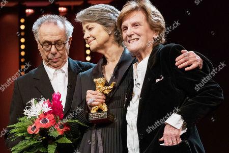 L-R: Festival Director Dieter Kosslick, Charlotte Rampling and director Liliana Cavani