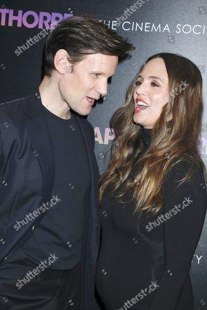 Stock Image of Matt Smith and Eliza Dushku