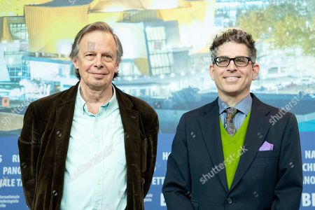 Joe Boyd (L) and director and producer Alan Elliott (R) pose during the press conference of 'Amazing Grace' at the 69th annual Berlin Film Festival, in Berlin, Germany, 15 February 2019. The movie is presented in the Official Competition at the Berlinale that runs from 07 to 17 February.