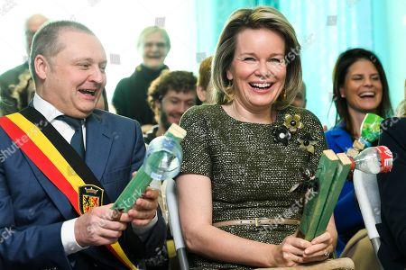 Queen Mathilde visits Project Musique-Recup, Fleurus