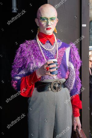 Editorial photo of Street style, Fall Winter 2019, London Fashion Week, UK - 15 Feb 2019