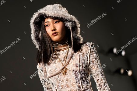 A model presents a creation by British designer A Sai Ta for his label Asai during London Fashion Week 2019, in Central London, Britain, 15 February 2019. The LFW Fall/Winter 2019 runs from 15 to 19 February.